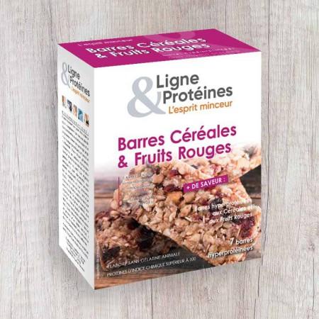 Barres hyperprotéinées Céréales Fruits rouges (7 barres)