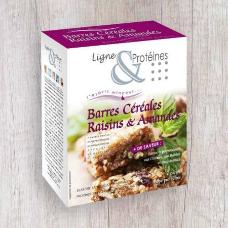 Barres hyperprotéinées Céréales Raisins & Amandes (7 barres)