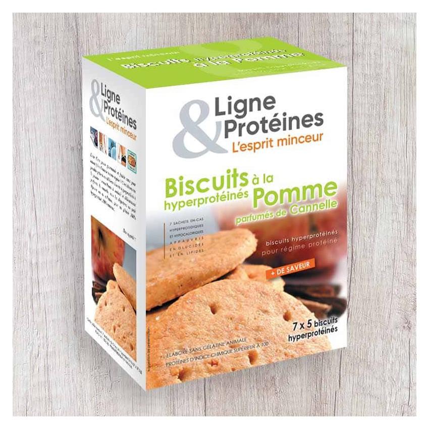 Biscuits hyperprotéinés à la Pomme (7x5 biscuits)