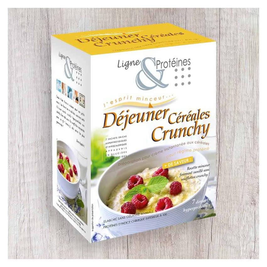 Déjeuner Céréales Crunchy hyperprotéiné (7 sachets)