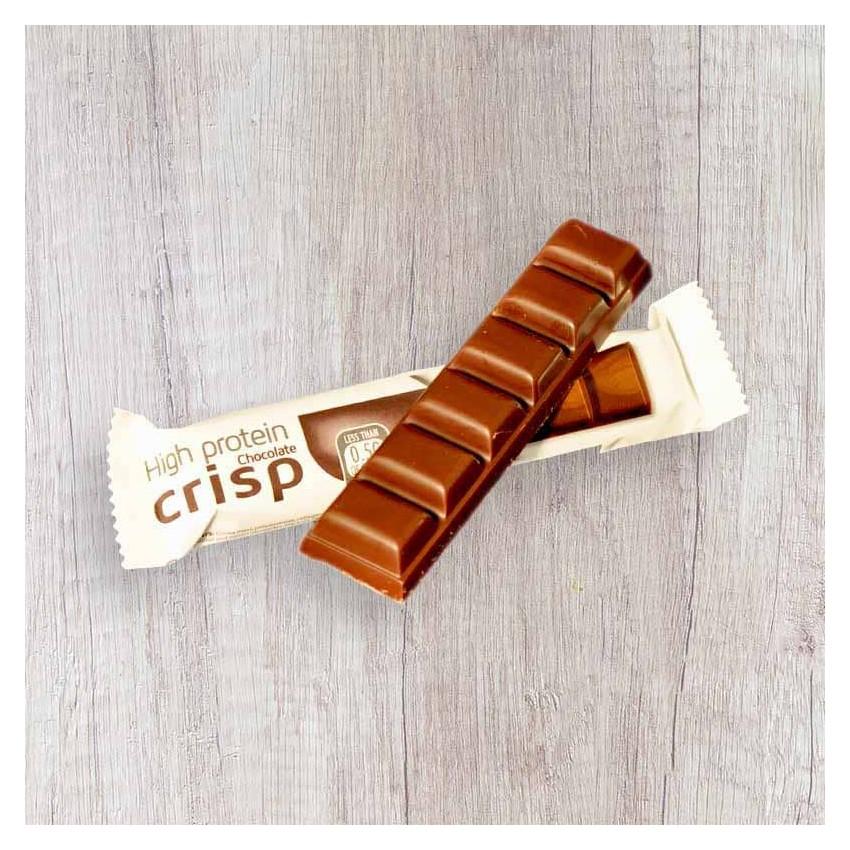Tablette de Chocolat Noir Hyperprotéiné Crisp