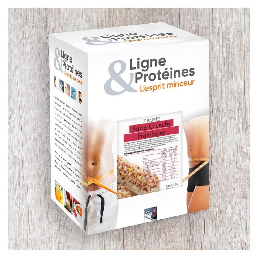 Barres hyperprotéinées Crunchy Framboise (7 barres)