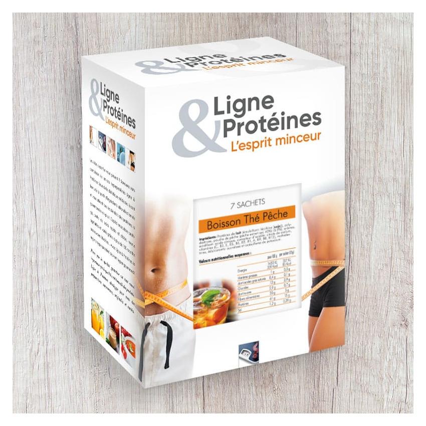 Boisson Thé Pêche hyperprotéinée (7 sachets)