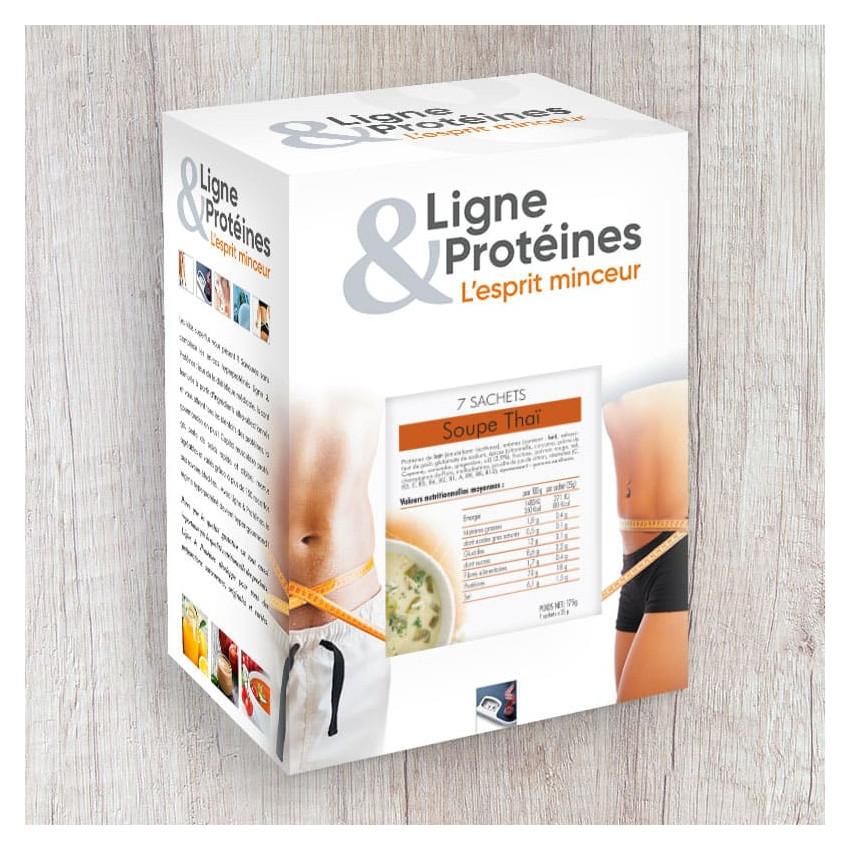 Soupe Thaï hyperprotéiné (7 sachets)